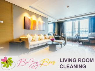 image of living room cleaning